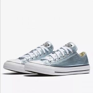 💙Light Blue Metallic Converse💙
